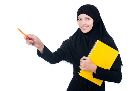 Young muslim female student with books Stock Photo - 23352104