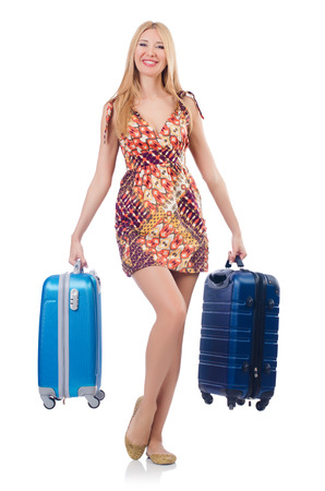 Woman preparing for travel on summer vacation Stock Photo - 23352146