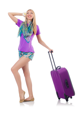 Woman preparing for travel on summer vacation Stock Photo - 23352147