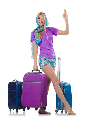 Woman preparing for travel on summer vacation Stock Photo - 23538218