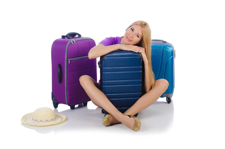 Woman preparing for travel on summer vacation Stock Photo - 23538220