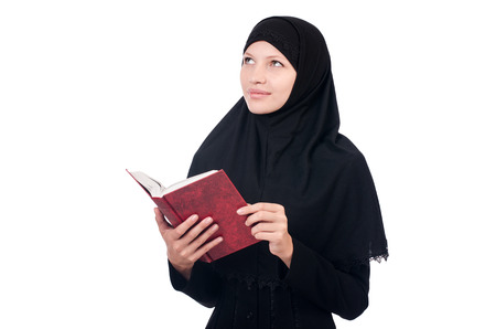 Young muslim female student with books Stock Photo - 23496267
