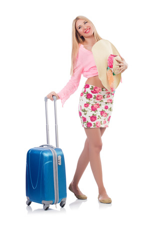 Woman preparing for travel on summer vacation Stock Photo - 23496338