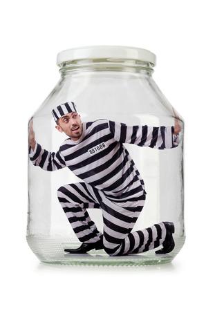 Glass empty jar isolated on white Stock Photo - 23503750