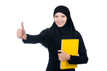 Young muslim female student with books Stock Photo - 23877104