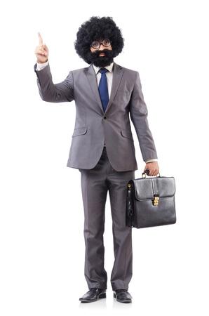 bushy: Businessman isolated on the white background
