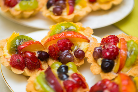 piecies: Tasty sweets in the plate