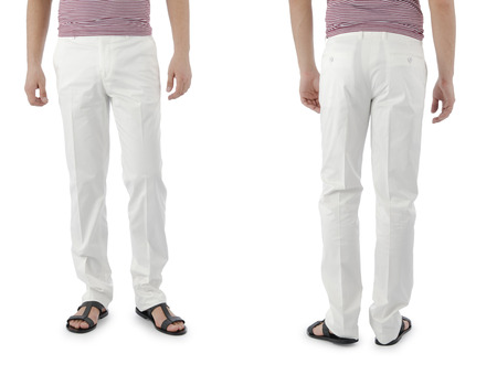 bell bottoms: Trousers on the model isolated