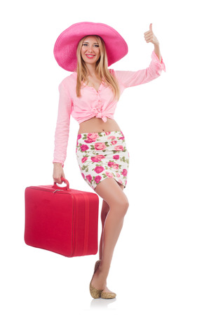 Woman preparing for travel on summer vacation Stock Photo - 23922033