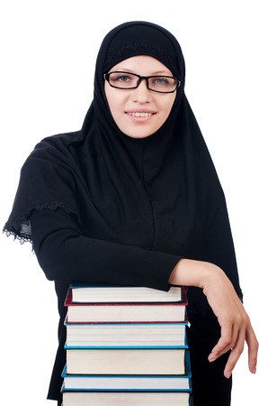 Young muslim female student with books Stock Photo - 24920962