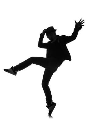 bailarines silueta: silueta de bailarín aislado en blanco