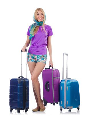 Woman preparing for travel on summer vacation Stock Photo - 24576847
