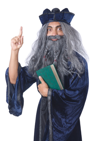 Wizard isolated on the wise background Stock Photo - 27292563