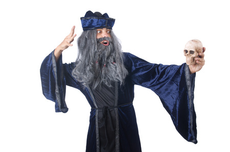 Wizard isolated on the wise background Stock Photo - 27292564