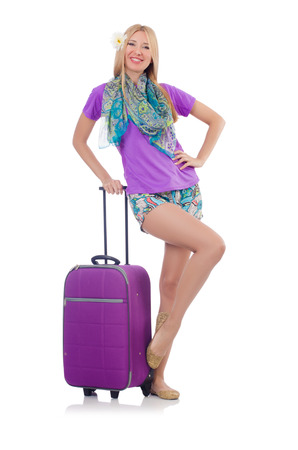 Woman preparing for travel on summer vacation Stock Photo - 26968019