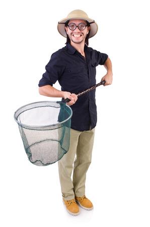 funny guy: Dr�le de type avec la capture nette sur blanc