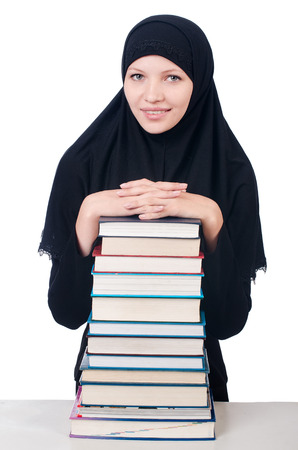 Young muslim female student with books Stock Photo - 26660549