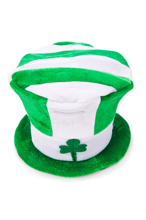 Saint Patrick holiday concept with green hat photo