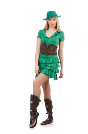 Woman in saint patrick concept Stock Photo - 26950691