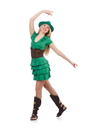 Woman in saint patrick concept Stock Photo - 26950692