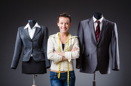 Woman tailor working on clothing Stock Photo - 27277908