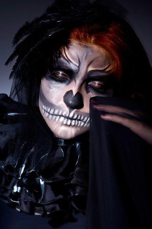 Scary monster in dark room photo