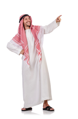 Arab man isolated on white photo