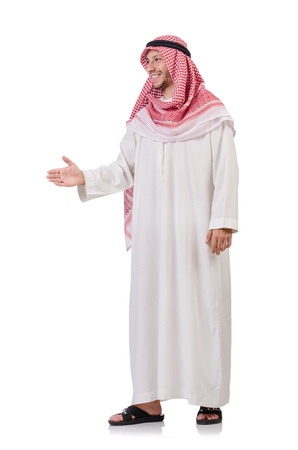homme arabe: Homme arabe isol� sur blanc Banque d'images