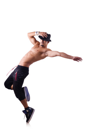 Ripped dancer isolated on the white Stock Photo - 27758446