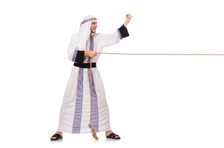Arab man in tug of war concept Stock Photo - 27758787