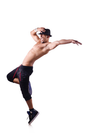 Ripped dancer isolated on the white Stock Photo - 27867535