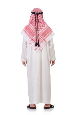 qameez: Praying arab man isolated on white