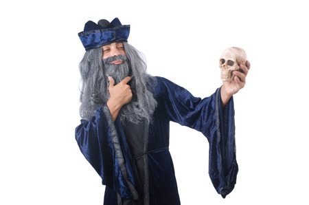 Wizard isolated on the wise background Stock Photo - 27869542