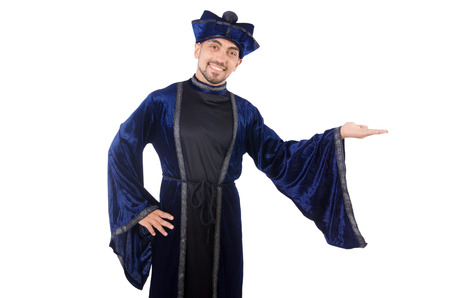 Wizard isolated on the wise background Stock Photo - 27869774