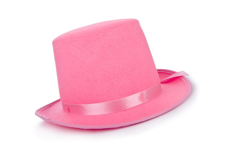 topper: Pink topper hat isolated on the white