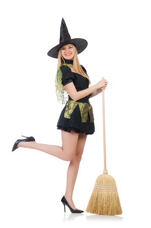 Witch isolated on the white background Stock Photo - 27973668