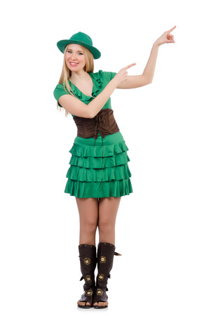 Woman in saint patrick concept Stock Photo - 28025542
