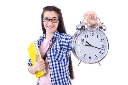 Student failing to meet deadlines for her studies Stock Photo
