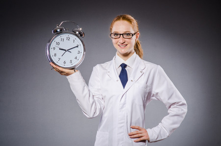 Woman doctor missing her deadlines photo