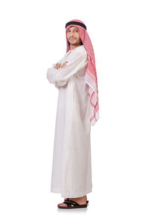 kameez: Arab man isolated on white