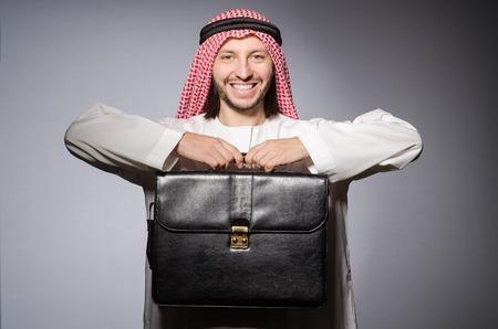 hombre arabe: Hombre árabe en concepto de la diversidad Foto de archivo