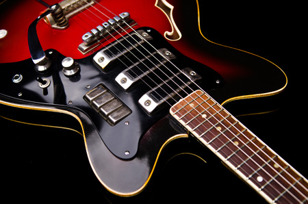 electric: Close up of music guitar