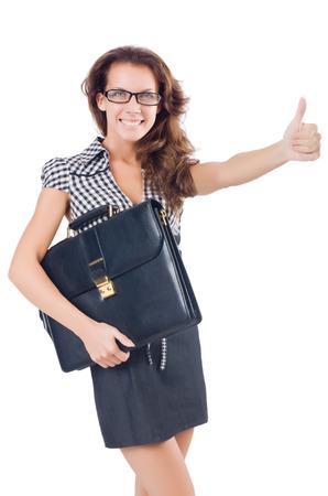 Woman businesswoman isolated on white Stock Photo - 28921116