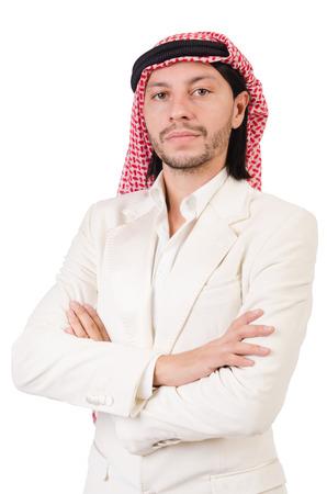 qameez: Arab man isolated on the white