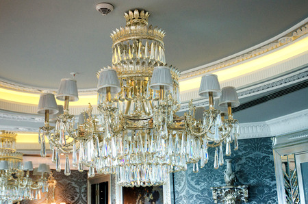 Chandelier in the classic interior photo