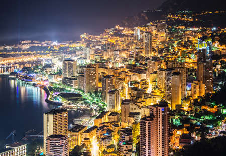 Night view of Monaco photo