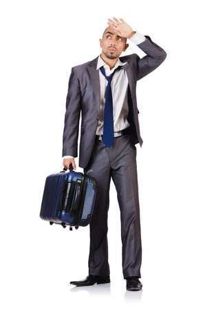 Travel vacation concept with luggage on white Stock Photo - 28930681