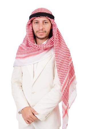 kameez: Arab man isolated on the white