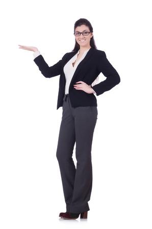 Woman businesswoman isolated on white Stock Photo - 28861303