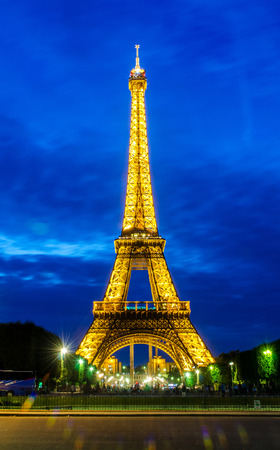 PARIS - JUNE 15  Eiffel Tower on June 22, 2012 in Paris  Eiffel tower is one the most popular attractions in Paris